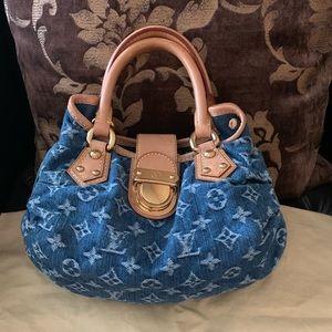 Louis Vuitton Denim Monogram Pleaty Bag ✨ RARE ✨